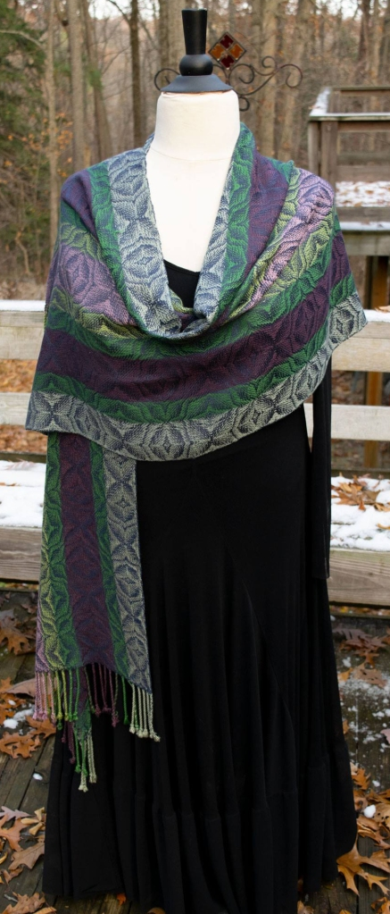 Shawl up for auction at the July 20 The Heat Stays On event at The Village Pub in Ortonville, MI